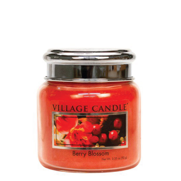 Village Candle Candela Piccola - Berry Blossom - 92 Gr.