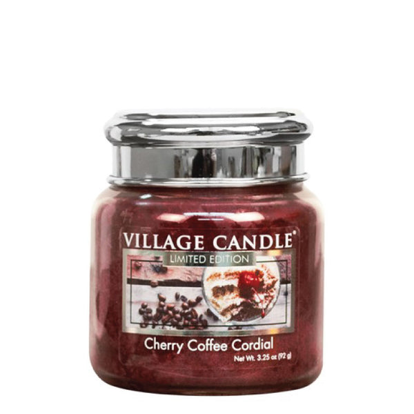 Village Candle Candela Piccola - Cherry Coffee Cordial - 92 Gr.