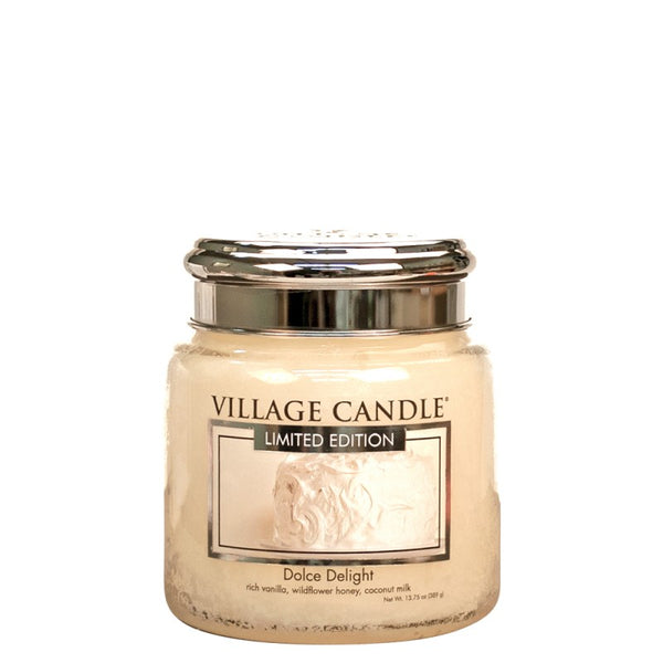 Village Candle Candela Media - Dolce Delight - 454 Gr.