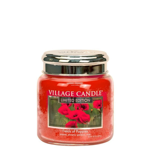 Village Candle Candela Media - Fields of Poppies - 454 Gr.