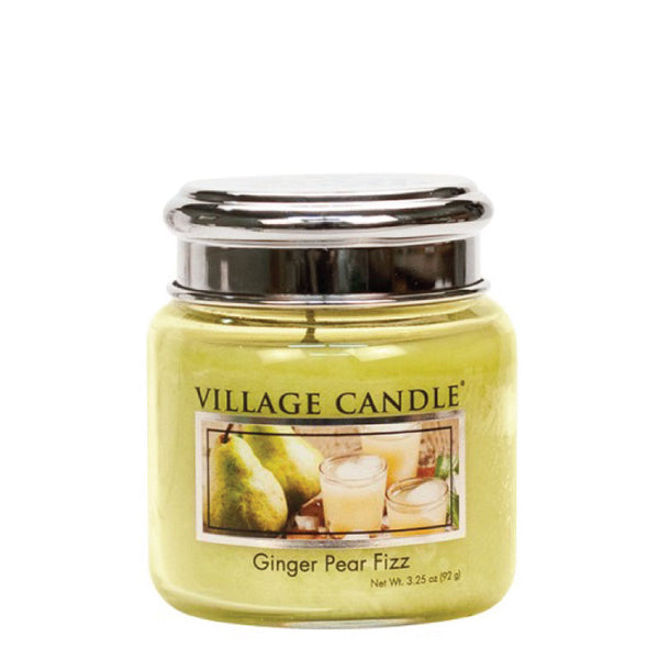 Village Candle Candela Piccola - Ginger Pear Fizz - 92 Gr.