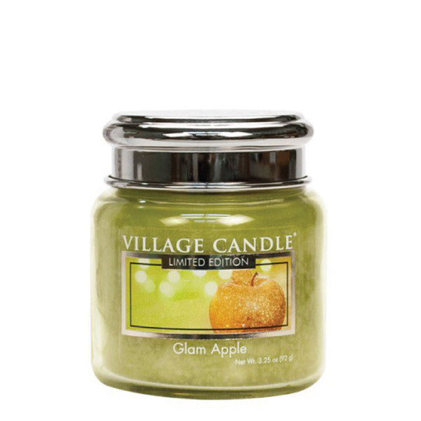Village Candle Candela Piccola - Glam Apple - 92 Gr.