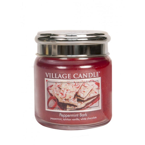 Village Candle Candela Media - Peppermint Bark - 454 Gr.