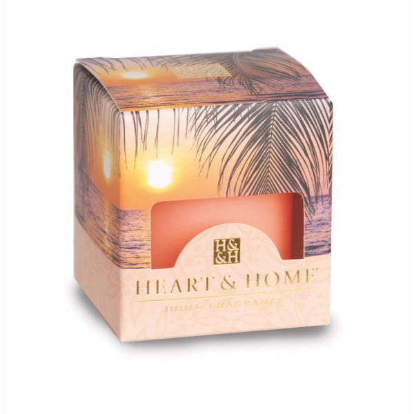 Heart & Home Candela in Cera di Soia - Paradise Sunset - 53 Gr.