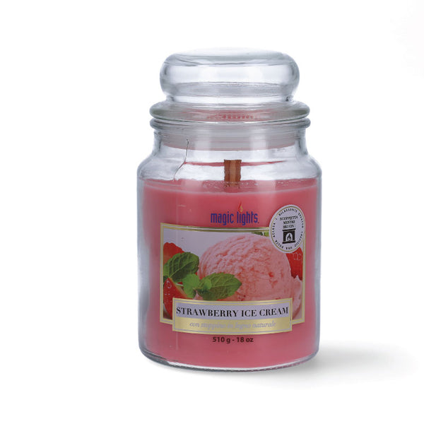 Magic Lights Candela Grande - Strawberry Ice Cream - 510 Gr.