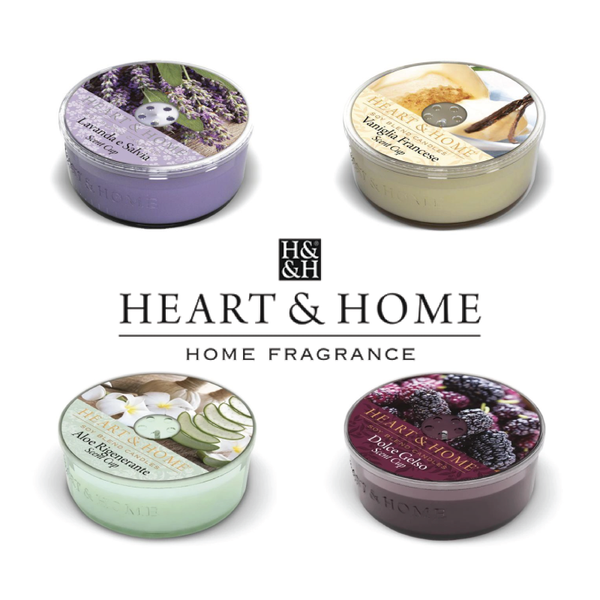 Heart & Home - Set di 4 Scent Cup - 38 Gr.