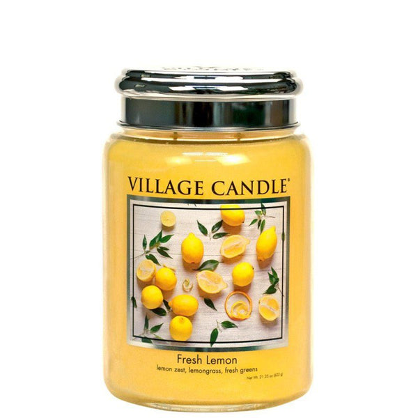 Village Candle Candela Grande - Fresh Lemon - 737 Gr.