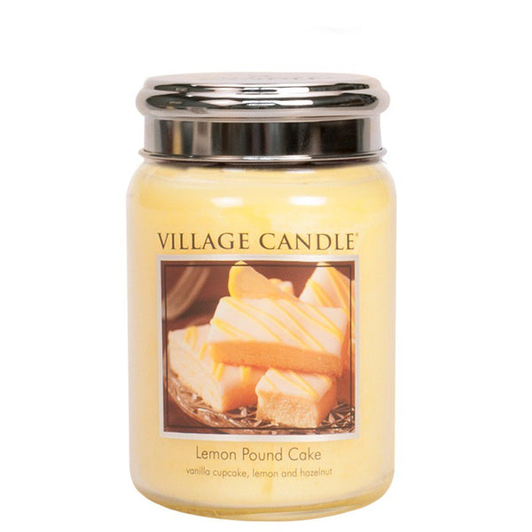 Village Candle Candela Grande - Lemon Pound Cake - 737 Gr.