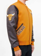 Load image into Gallery viewer, Pro Standard NBA Chicago Bulls Wool Varsity Brown Heavy Jacket