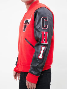 Pro Standard NBA Chicago Bulls Wool Varsity Red / Black Heavy Jacket