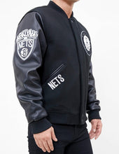 Load image into Gallery viewer, Pro Standard NBA Brooklyn Nets Wool Varsity Black Heavy Jacket