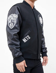 Pro Standard NBA Brooklyn Nets Wool Varsity Black Heavy Jacket