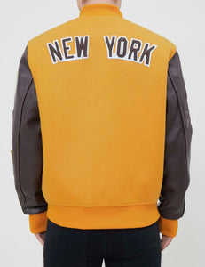 Pro Standard MLB New York Yankees Wool Varsity Brown Heavy Jacket