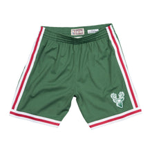 Load image into Gallery viewer, 1971-72 Green Milwaukee Bucks Mitchell & Ness Hardwood Classics Swingman Shorts