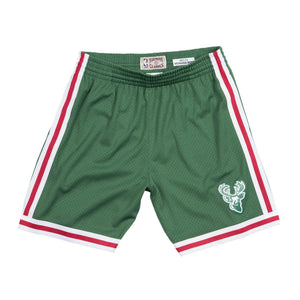 1971-72 Green Milwaukee Bucks Mitchell & Ness Hardwood Classics Swingman Shorts
