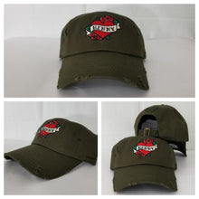 Load image into Gallery viewer, Henny By Field Grade OLIVE Green Distressed DAD Hat Snapback Strapback CAP