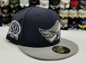 New Era 59Fifty San Los Angeles Angels Navy / gray 50th Anniversary Fitted Hat