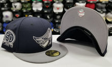 Load image into Gallery viewer, New Era 59Fifty San Los Angeles Angels Navy / gray 50th Anniversary Fitted Hat