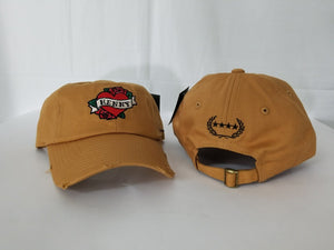 Henny By Field Grade Wheat Distressed DAD Hat Snapback Strapback CAP