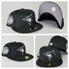 Load image into Gallery viewer, Exclusive New Era Toronto Blue Jays 59Fifty 30th Anniversary patch Black Fitted Hat