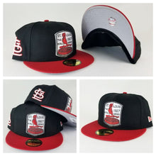 Load image into Gallery viewer, New Era MLB St. Louis Cardinals Black / Red 59Fifty Fitted Hat
