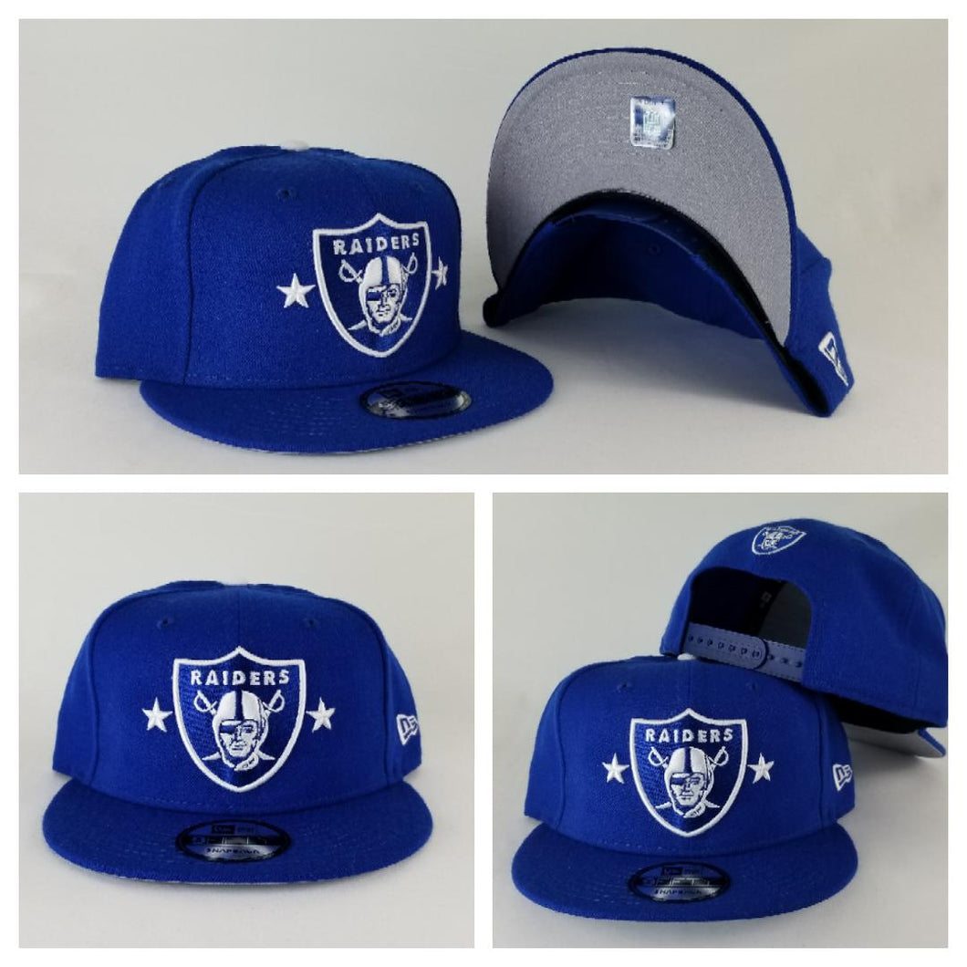 Exclusive New Era Royal Blue Oakland Raiders 9Fifty Stars Snapback hat