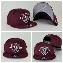 Load image into Gallery viewer, Exclusive New Era Maroon Oakland Raiders 9Fifty Stars Snapback hat