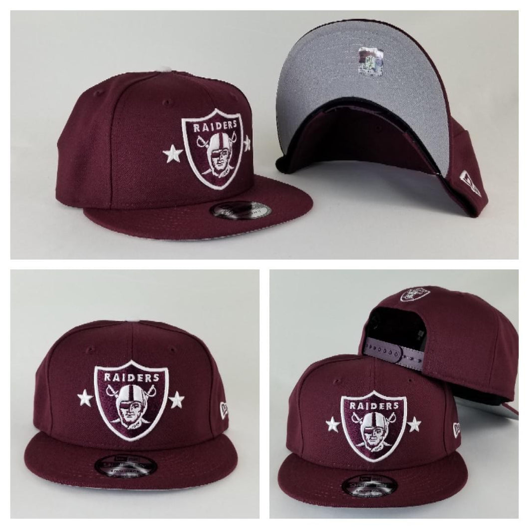 Exclusive New Era Maroon Oakland Raiders 9Fifty Stars Snapback hat