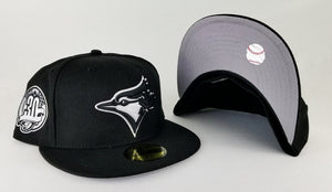 Exclusive New Era Toronto Blue Jays 59Fifty 30th Anniversary patch Black Fitted Hat