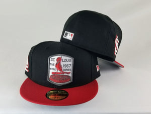 New Era MLB St. Louis Cardinals Black / Red 59Fifty Fitted Hat