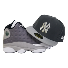 Load image into Gallery viewer, Matching New Era New York Yankees Fitted hat for Jordan 13 Atmosphere Grey