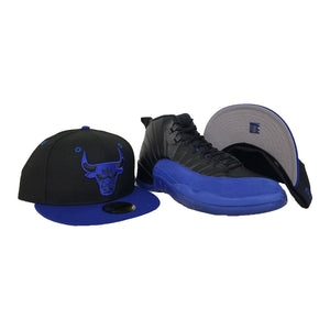 Matching New Era Chicago Bulls Fitted Hat for Jordan 12 Game Royal