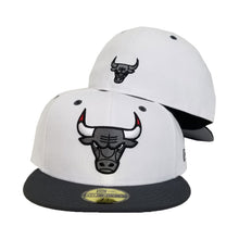 Load image into Gallery viewer, Matching New Era Chicago Bulls Fitted For Jordan 12 White Dark Grey