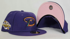 Arizona Diamondbacks Pink Bottom 2001 World Series New Era 59Fifty Fitted