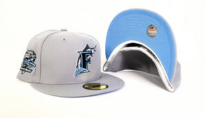 Grey Florida Marlins Ice Blue Bottom 10th Anniversary Patch New Era 59Fifty Fitted