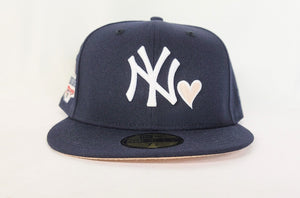 Navy Blue Heart New York Yankees Mango Bottom 2018 All Star Game New Era 59Fifty Fitted