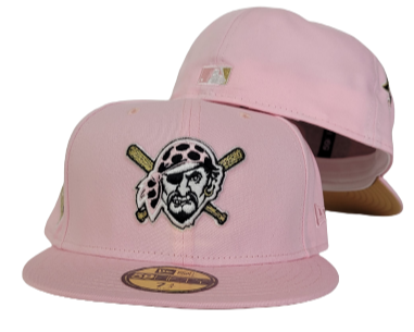 Pink Pittsburgh Pirates Gold Bottom 1959 All Star Game Side Patch New Era 59Fifty Fitted