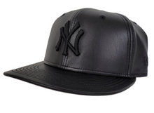 Load image into Gallery viewer, New Era 59Fifty PU Leather New York Yankees Black On Black Fitted