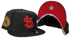 Black St. Louis Cardinals Red Bottom 1942 World Series New Era 59Fifty Fitted