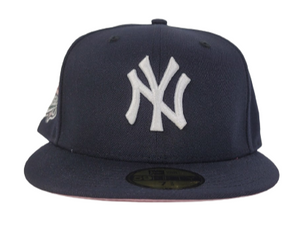 New York Yankees Navy Pink Bottom 1999 World Series New Era 59Fifty Fitted Hat