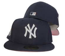 Load image into Gallery viewer, New York Yankees Navy Pink Bottom 1999 World Series New Era 59Fifty Fitted Hat
