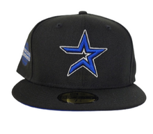 Load image into Gallery viewer, Black Houston Astros Royal Blue Bottom 2005 World Series New Era 59Fifty Fitted