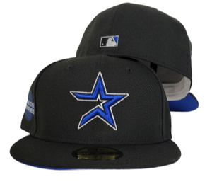 Black Houston Astros Royal Blue Bottom 2005 World Series New Era 59Fifty Fitted