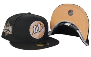 Black Seattle Mariners Peach Bottom 1989 All Star Game New Era 59Fifty Fitted