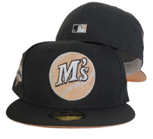 Load image into Gallery viewer, Black Seattle Mariners Peach Bottom 1989 All Star Game New Era 59Fifty Fitted