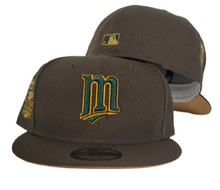 Load image into Gallery viewer, Brown Minnesota Twins wheat Bottom 2014 All Star Game New Era 59Fifty Fitted