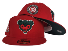 Load image into Gallery viewer, Red Chicago Cubs Dark Green Bottom 1962 All Star Game New Era 59Fifty Fitted
