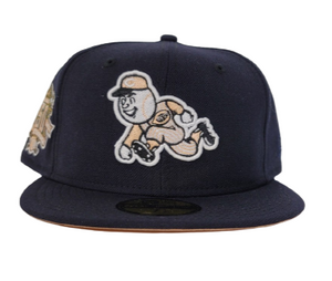 Navy Blue Cincinnati Reds Peach Bottom150th Anniversary side Patch New Era 59Fifty Fitted