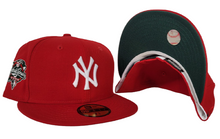 Load image into Gallery viewer, Red New York Yankees Dark Green Bottom 2000 World Series New Era 59Fifty Fitted