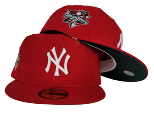 Red New York Yankees Dark Green Bottom 2000 World Series New Era 59Fifty Fitted